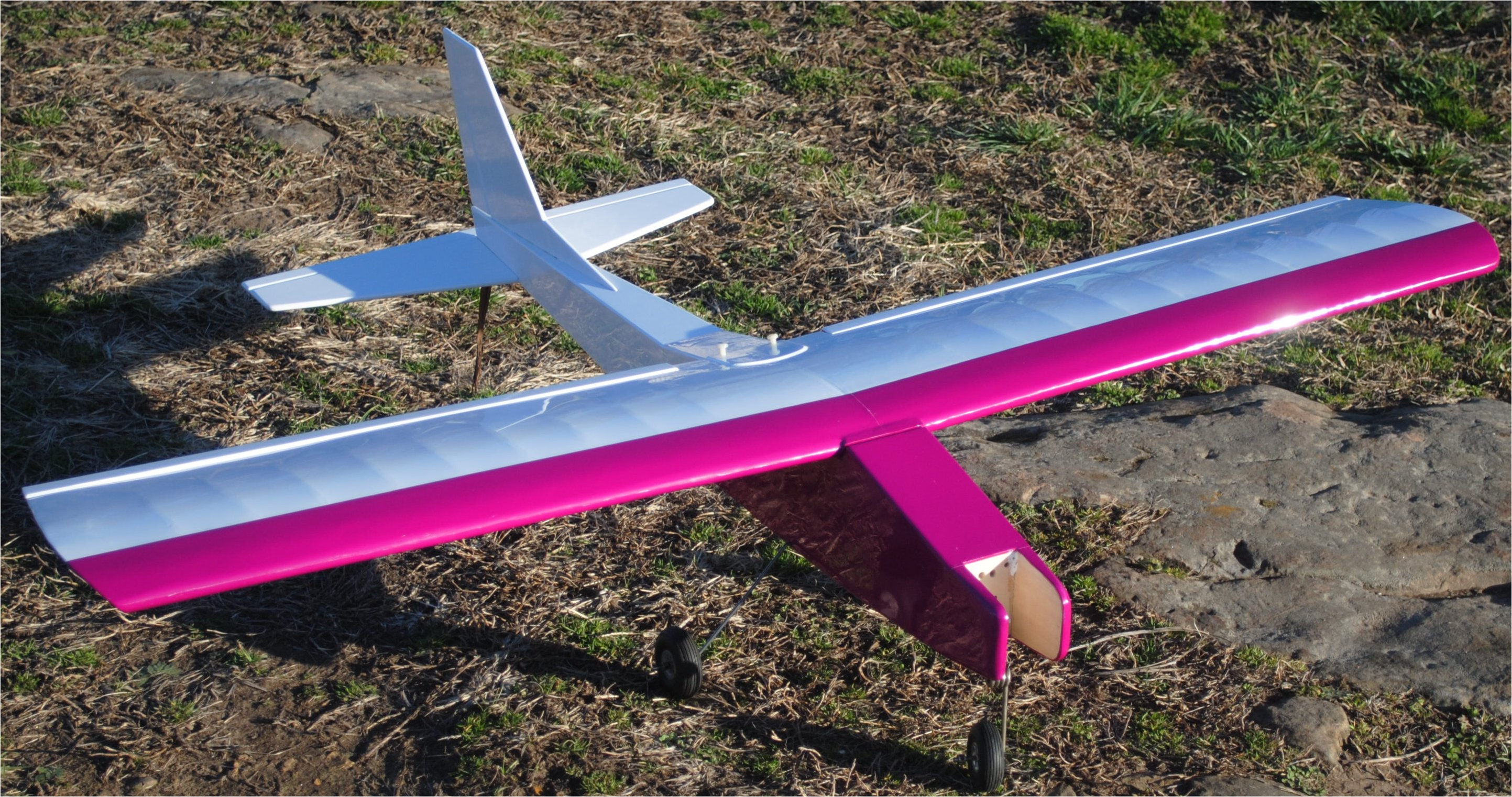 The Aerostar 20 is the same plane but smaller. It has essentially the same flying characteristics, except the smaller wing can't create the same lift per square inch so everything happens a bit quicker, and it has a steeper, faster glide when landing. It's still slow and friendly, but it just feels a little bit more zippy.
